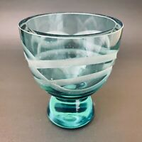 Waterford Evolution turquoise lead crystal votive holder