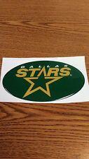 """NHL DALLAS STARS CAR/BUMPER STICKER 5 1/2""""X 3 1/2"""" OVAL NICE !"""