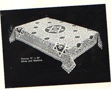 "Star of David Tablecloth OVAL shape (70"" x 126"")"