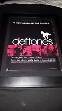 Deftones Change In The House Of Flies Rare Radio Promo Poster Ad Framed #2