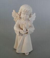 Engel mit Kerze ca. 4 cm hoch, Holz geschnitzt natur, Weihnachtspyramide 401-04