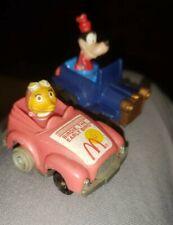 80s McDonald's Happy Meal Disney Pull Back Cars ToysGoofy, Birdie