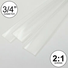 34 Id Clear Heat Shrink Tube 21 Ratio 075 3x8 2 Ft Inchfeetto 20mm