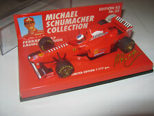 1:43 Ferrari Launch M. Schumacher 1997 Ed. 43 Nr. 32 MINICHAMPS 510974395 new