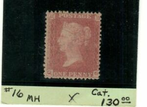 GB Scott #16 SG 29 Mint Hinged 1d red brown