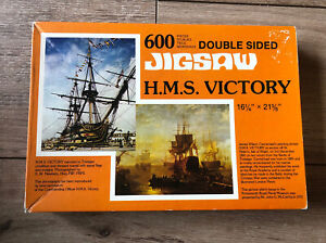 Vintage HMS Victory Double Sided Jigsaw Puzzle 600pcs Complete Trafalgar Ship