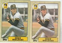 FREE SHIPPING-MINT-1987 Topps Mike Bielecki PIttsburgh Pirates 394-2 CARDS