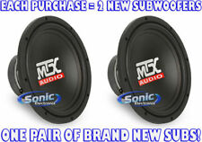 "600W PAIR (2) MTX TN10-04  10"" Single 4 ohm Car Subwoofers Terminator Series"
