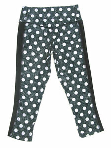 Nike Skinny Legend Pant Workout Yoga Leggings Tights Women Sz XS Black Gray Dots
