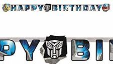 GHIRLANDA HAPPY BIRTHDAY TRANSFORMERS 997767 FESTONE DECORAZIONE FESTA PARTY