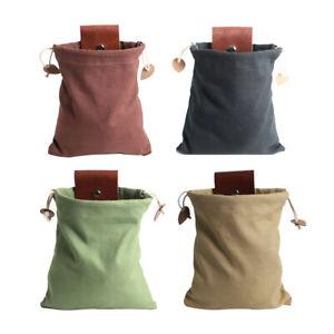 Foraging Bag Mushroom Foraging Bag Waxed Canvas Tinder Waterproof Small New