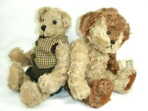 Ganz Cottage Collectibles Teddy Bears, Lot of 2, 1997 and 1999,  Jointed
