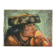 """""""Andian Indian Woman"""" By Anthony Sidoni Signed Oil on Canvas 9""""x12"""""""