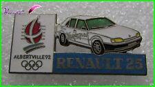 Pin's Jo Jeux Olympique Albertville 92 RENAULT Voiture Renault 25 #1253