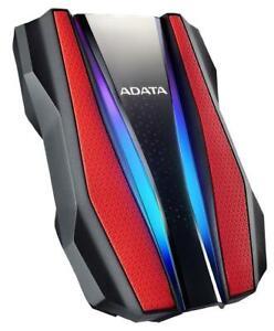 HD770G Durable RGB Portable Hard Drive, USB 3.2 Red 1TB - AHD770G-1TU32G1-CRD