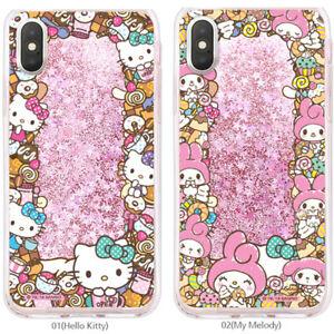 Genuine Hello kitty Friends Circle Glitter Case iPhone X/XS/XS Max/XR Case