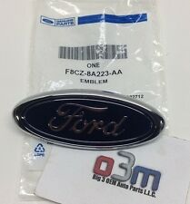 Ford Crown Victoria Focus Escort Blue / Chrome Ford Oval Grille EMBLEM new OEM