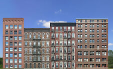 #810 N OFFICE AND APARTMENTS SET  - four background buildings  *FREE SHIPPING*