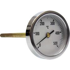 Termómetro para horno de leña con vaina de 300 mm, escala de 0 a 500ºC