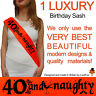 BIRTHDAY GIRL 40TH PARTY SASH NIGHT OUT ACCESSORY GIRLS SASHES FORTY FUN 40 TH!