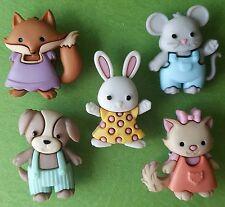 Forever Friends Bebé Niños Animal Zorro Gato Perro los botones del ratón Dress It Up Craft