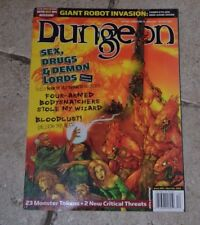"""TSR Dungeon Mag #95 """"Sex, Drugs & Demon Lords, Book of Vile Darkness, Mo Mag EX"""