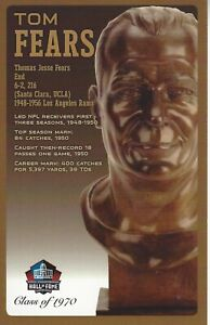 Tom Fears Los Angeles Rams Football Hall of Fame Bust Card