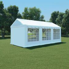 vidaXL Tuinpaviljoen 3x6 m PVC Wit Tent Partytent Feesttent Tuintent Feest