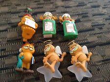 Lot of 6 Garfield Christmas ornaments