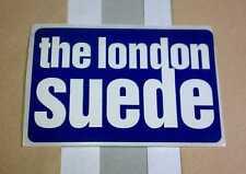 The London Suede Blue White Amp Guitar Case Promo Rare Sticker