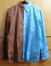 Blue Brown Tiered Shirts COMME des GARCONS Size S VG