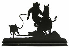 Calf Roper Rodeo Mailbox Topper Decor Roping #2