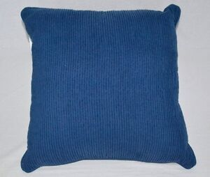 "$60 Martha Stewart Pleated Wave Blue 20"" Square Decorative Pillow"
