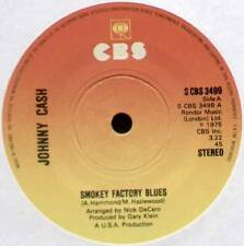 "[Hammond/Hazlewood] Johnny Cash ~ Smokey fábrica Blues ~ 1975 Reino Unido 7"" SINGLE"