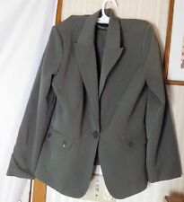 Metro Style Stretch Women's 2 Piece Skirt Suit Size 14P Polyester/Rayon/Spandex