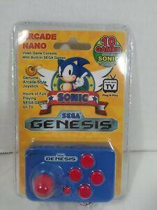 Arcade Nano 10 Games Sega Genesis Including Sonic TV Plug In/Key Chain