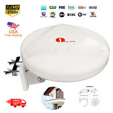 1Byone Outdoor Omni-directional TV Antenna 360 Degree Reception Amplified HDTV