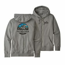 Patagonia Fitz Roy Scope Lightweight Full Zip Hoody Feather Grey Medium NEW