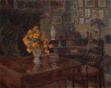 Öl-Gemälde alt antik Romantik Impressionismus Jugendstil Interieur ~1900