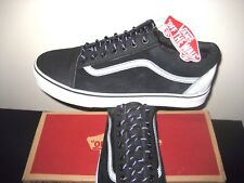 Vans Mens Old Skool Reissue Transit Line Black Suede Reflective shoes Size 10