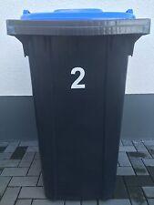 Aufkleber Mülltonne Abfalltonne Mülleimer reflektierend Zahlen Hausnummer 4Stück