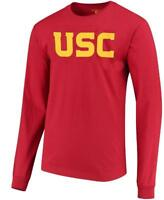 USC Trojans Mens Crimson Wordmark Long Sleeve T Shirt by 289c Apparel