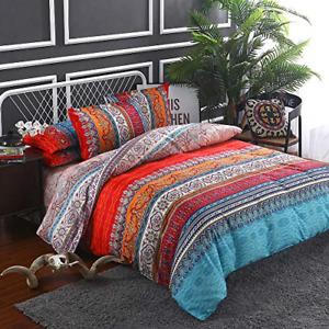 Goodidea Striped Bohemian Paisley Comforter Set, Boho Hippie Geometric Bedding 3