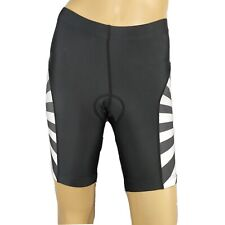 Free Fisher 3XL Gray Black White Striped Cycling Shorts With Padding
