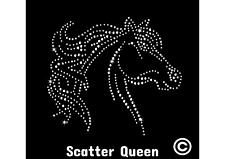 Hotfix rhinestone transfer motif UK bling large horse stallion