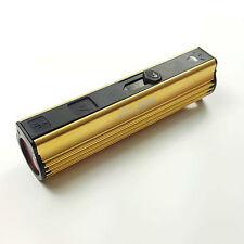 Linterna Led Encendedor De Cigarrillos USB Power Bank Batería Antorcha Lámpara de Aluminio