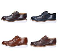 FDF SHOES scarpe uomo classiche bordeaux blu marrone pelle lucida
