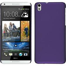 Hardcase HTC Desire 816 rubberized purple Cover + protective foils