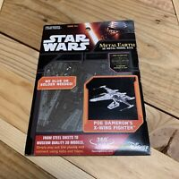 Star Wars The Force Awakens Poe Dameron's X-Wing Fighter Metal Earth Steel Model