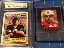 1984 USFL Steve Young RC CGA 9.0 #52 Inscriptions Steve Young Auto